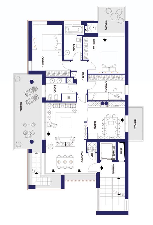 Planimetrie progetto appartamenti di lusso a mestre for Planimetrie di lusso