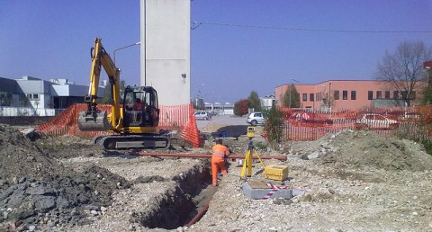 Cantiere area CIMM a Resana
